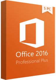 Microsoft Office 2016 Professional Plus - 5 PC
